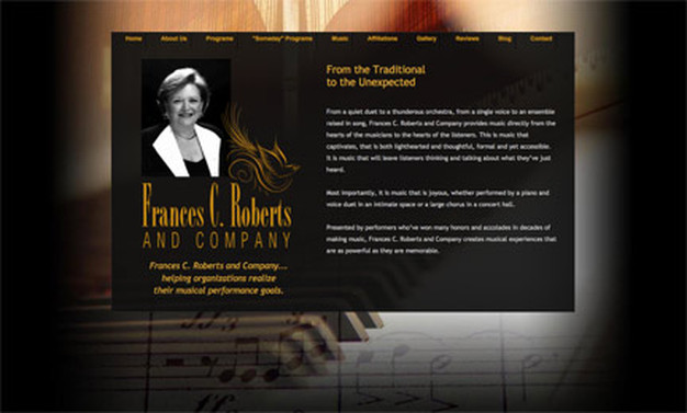 Website Design for Frances C. Roberts by D2 Studios