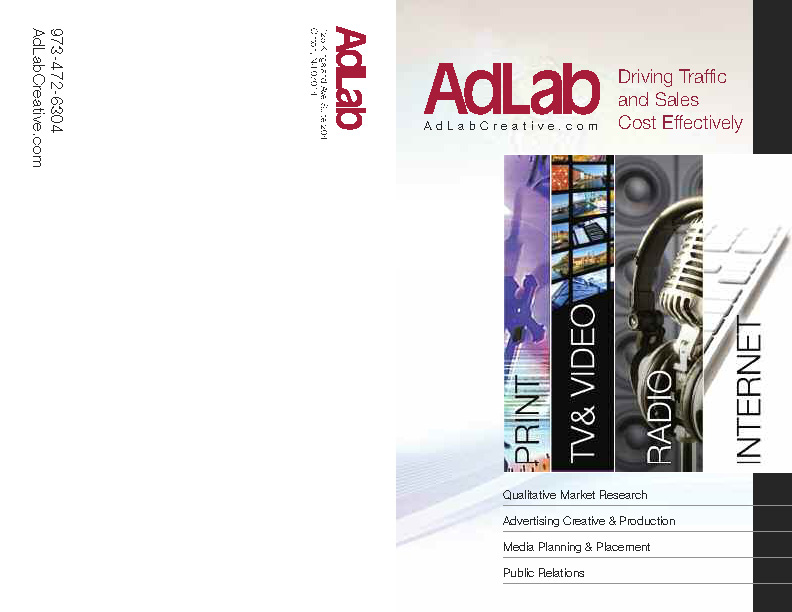 Brochure for AdLab designed by D2 Studios Graphic Communication in NJ