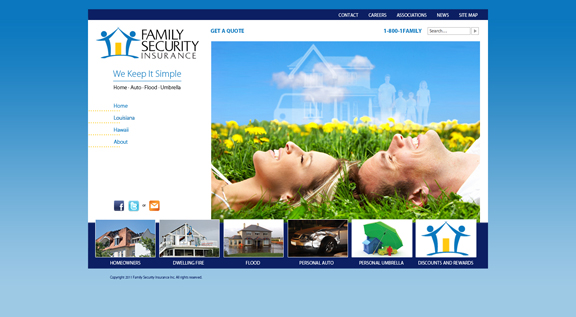 FSI website design comp by D2 Studios Graphic Communications